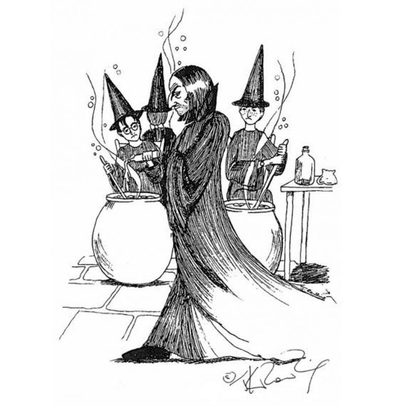 Snape tal como se lo imaginó Rowling