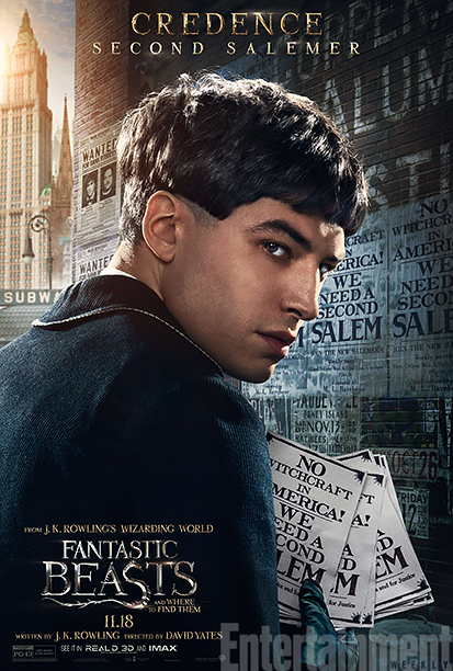 GALLERY: Fantastic Beasts and Where to Find Them - *EXCLUSIVE* Character Posters - Ezra Miller as Credence
